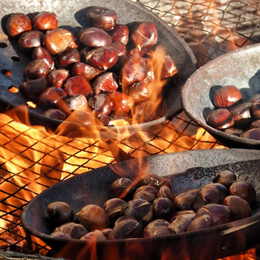 chestnuts in Yunquera